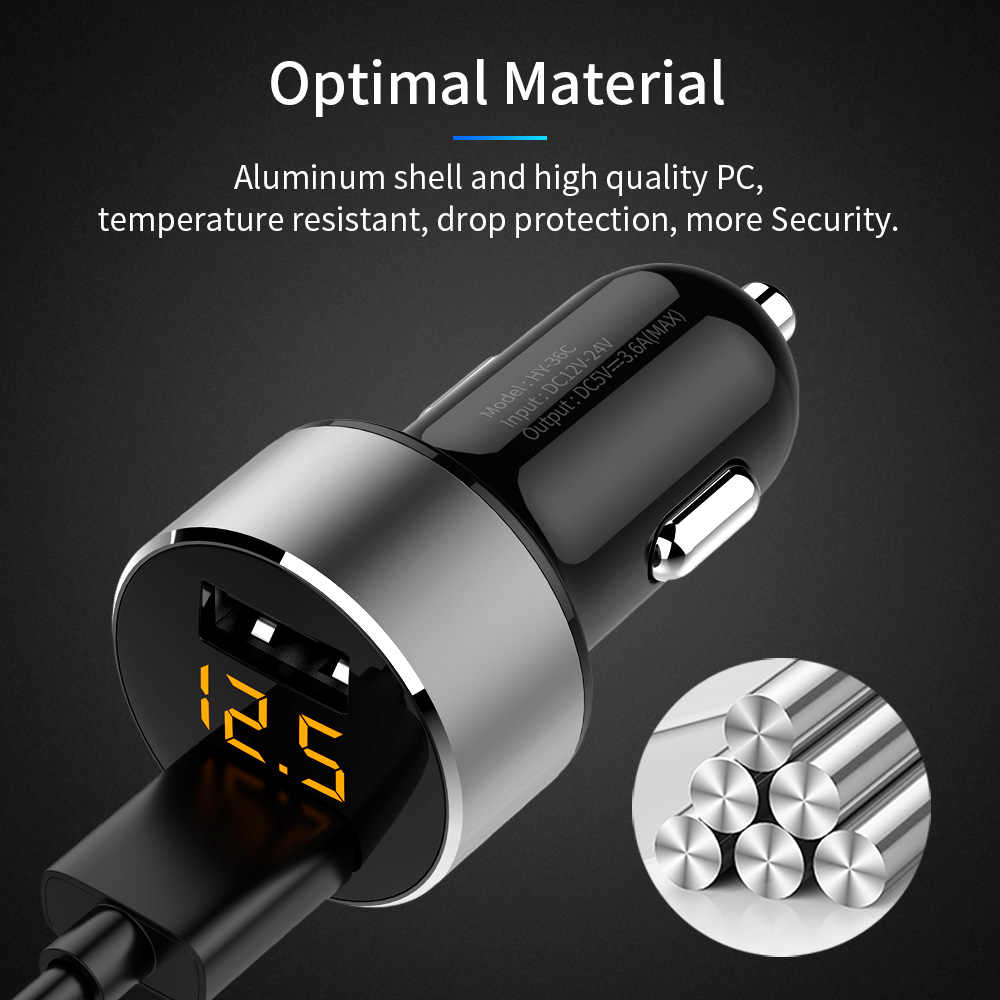 FLOVEME 5V 3.6A Car Charger Fast Charger Cigarette Lighter Car USB Charger For Xiaomi Samsung Mobile Phone Charge cargador coche