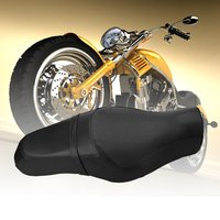 New Motorcycle Saddle Seats Front Driver Rear Passenger Seats Cushion Pad Motorcycle Accessories For Harley Davidson 883 XL1200