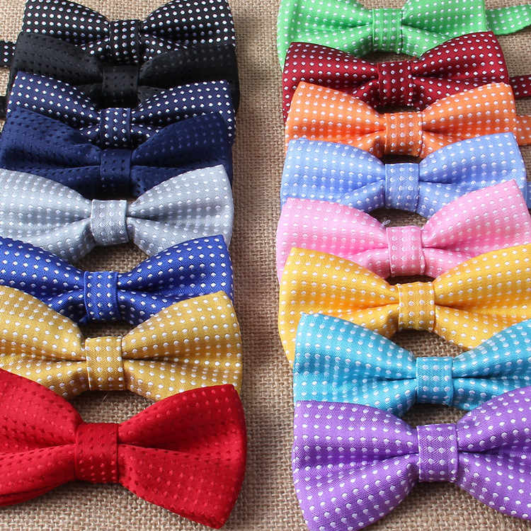 Children Fashion Formal Cotton Bow Tie Kid Classical Dot Bowties Colorful Butterfly Wedding Party Pet Bowtie Tuxedo Ties Boy
