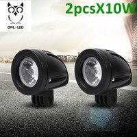 2pcs Motorcycle Headlight Bulb Lamp DC 12V 10W Round Motorbike White Running Light Universal