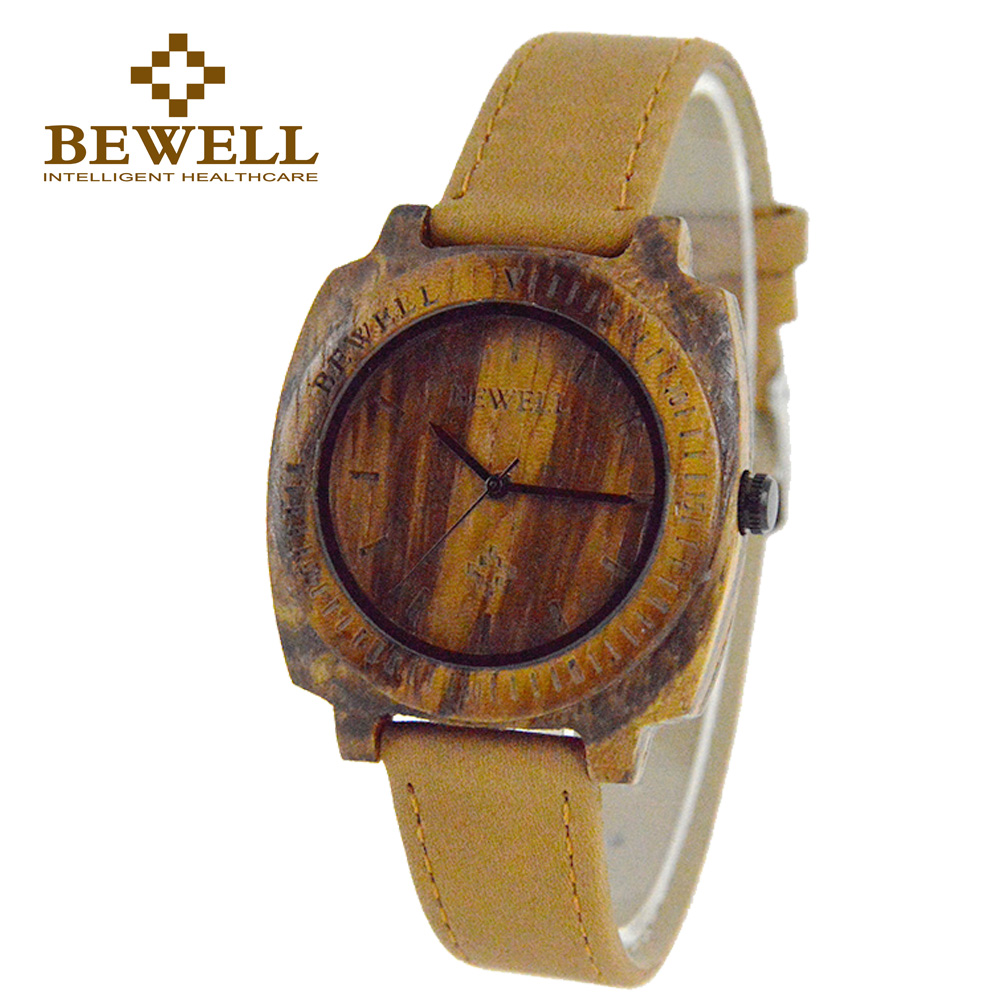 BEWELL Watch Gift Wooden Ladies Design Casual Fashion 098B Hand-Made Top-Brand Summer
