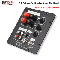 HIFIDIY LIVE speakers 2.1 Subwoofer Speaker Amplifier Board TPA3118 Audio 30W*2 +60W Sub AMP With Independent 2.0 Output