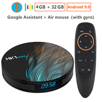Android 9,0 Smart tv BOX Google Voice Assistant RK3328 4G 64G ТВ приемник 4 K Wifi Google Play быстрый набор топ-бокс Youtube netflix