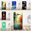 Luxury Clear Case for Samsung Galaxy A5 A500 2015 Phone Cases Thin Cartoon Flower Back Cover for Samsung A5 Silicon Covers Bag