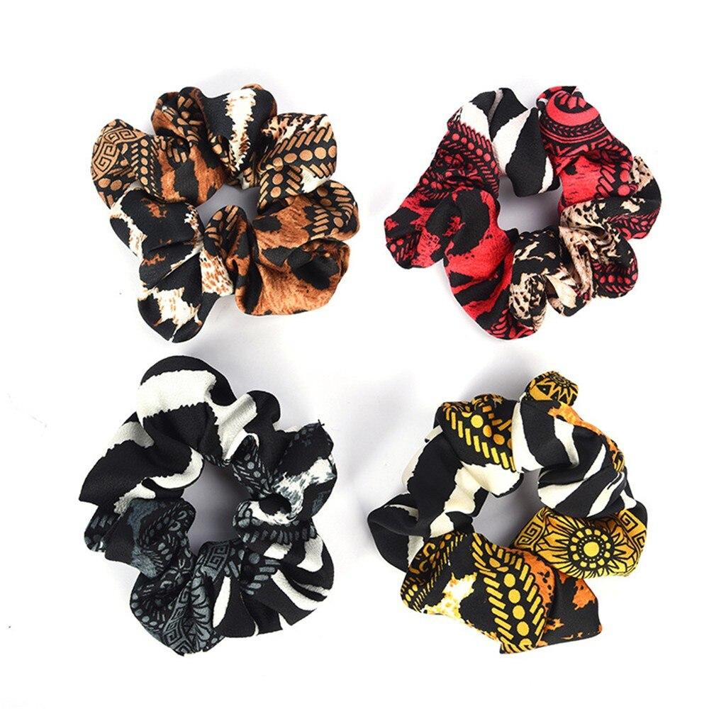 Women Elastic Hair Bands Elastic Hair Rope Ring Tie Scrunchie Ponytail Holder Hair Band Headband Fashion Flower Crown
