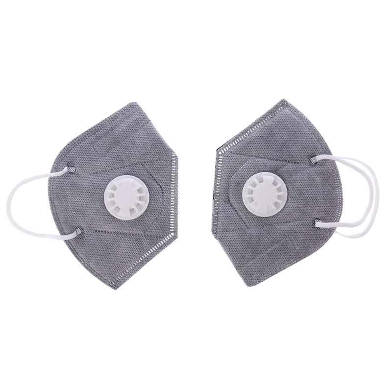 Free Shipping 2Pc Disposable Activated Carbon Dust Mask Charcoal Particulate Filter Respirator