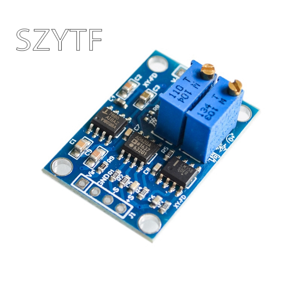 AD620 Microvolt MV Voltage Amplifier Signal Instrumentation Module Board 3-12VDC New Arrival