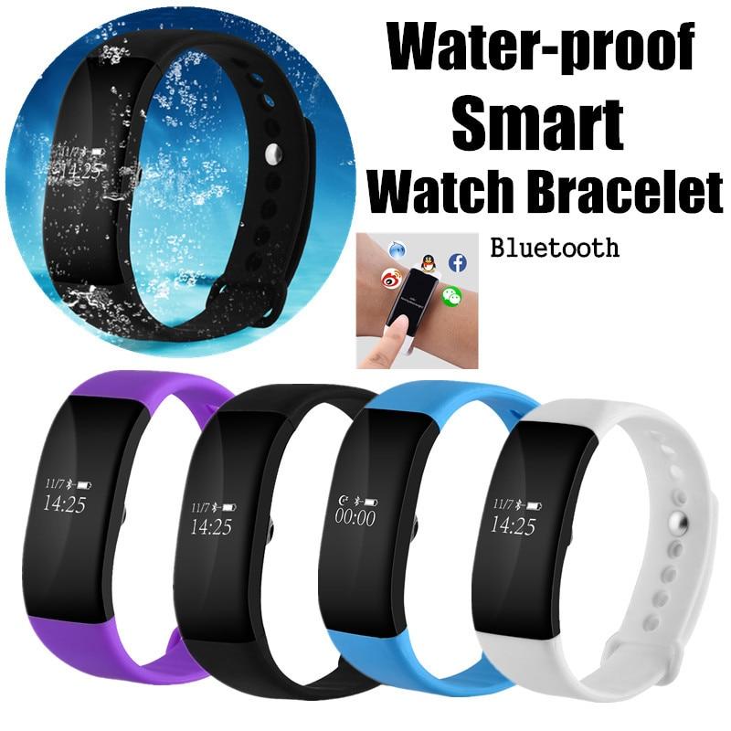imágenes para Pulseras inteligentes Esfigmomanómetro Pulsómetro Impermeable Reloj Inteligente Pulsera Smartband Rastreador de Ejercicios Nuevos