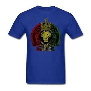 Отличная скидка, мужские футболки с круглым вырезом, забавные мужские футболки с вырезом лодочкой, с изображением короля Джуды растаи и Льв...