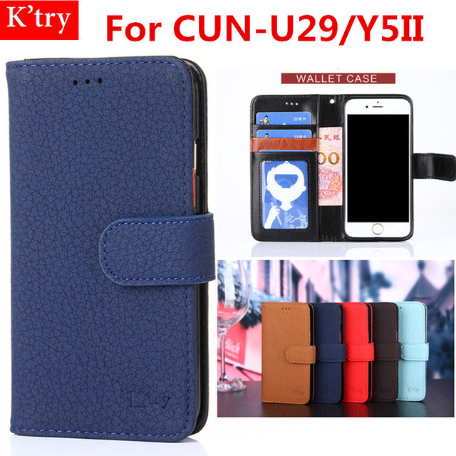 Phone Case For Huawei CUN-U29 Original Leather Wallet Flip Cover Case For Huawei Y5II  Y6iimini Conque