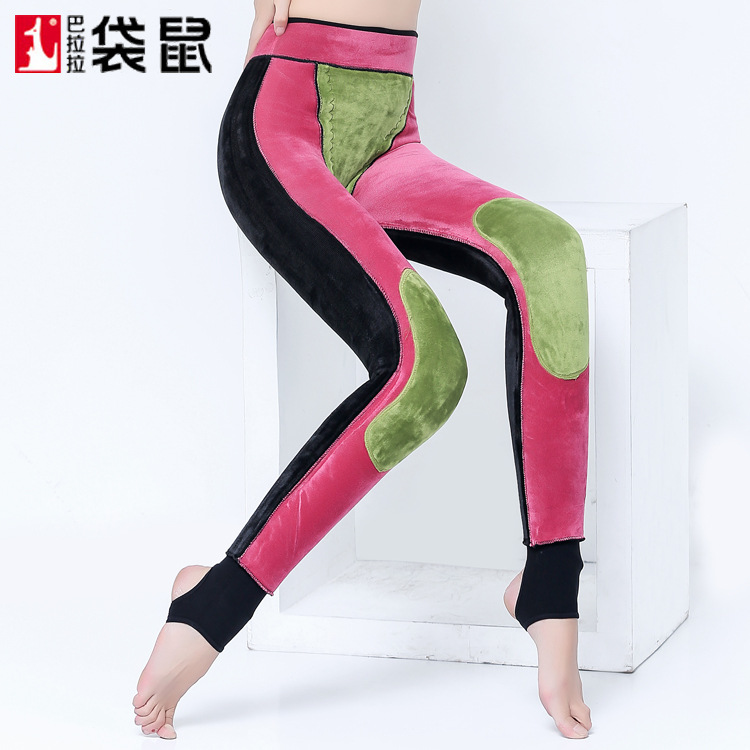 2017 Stockings Women Tights Autumn And Winter With Thick Layered Velvet Pants Waist Knee Function Wear Warm Body Solid