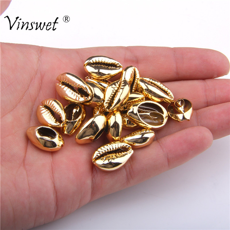 Jewelry Seashells Making-Accessories-Supplies Gold/silver-Plated Handmade 10pcs For DIY