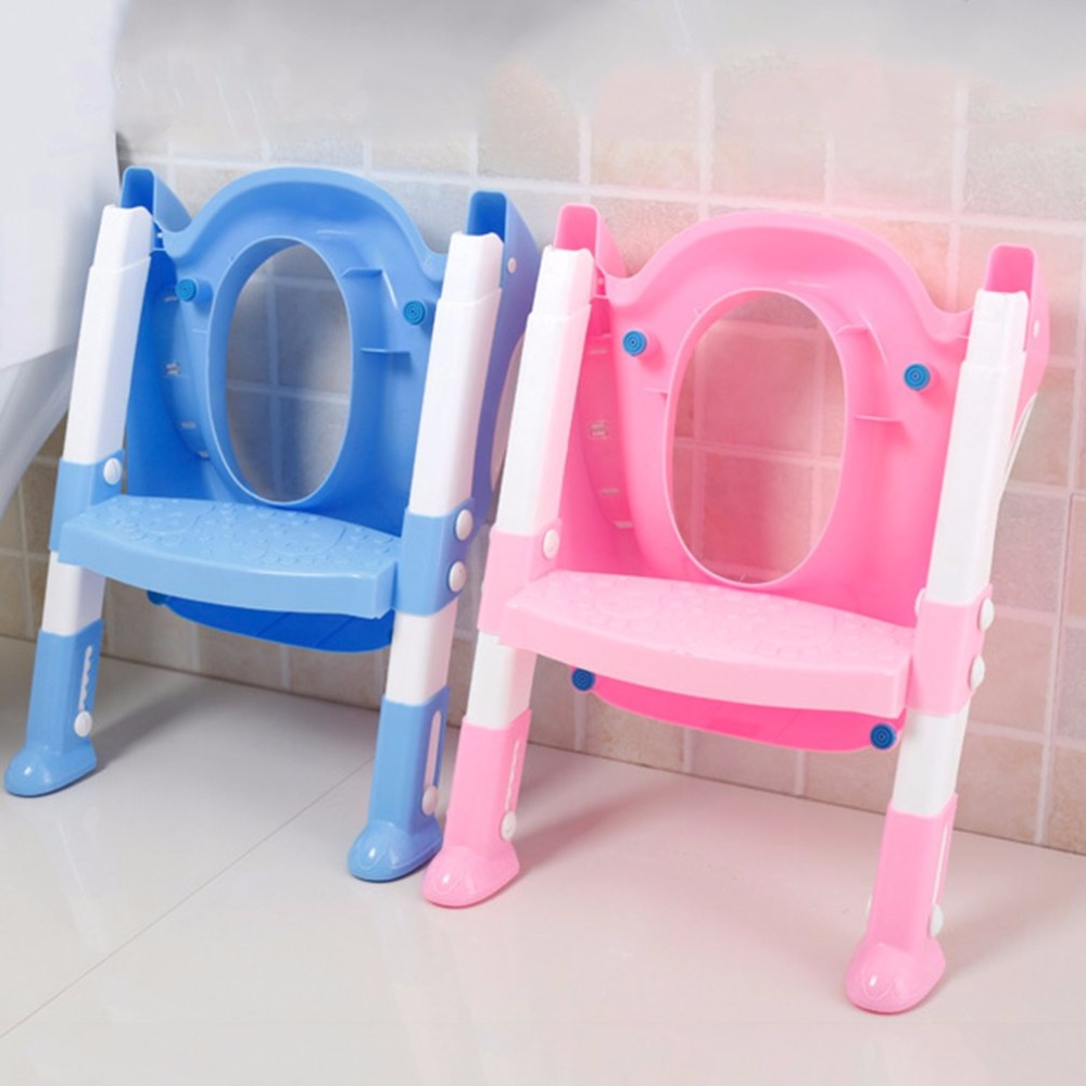 Foldable Children Potty Seat With Ladder Cover PP Toilet Adjustable Chair Pee Training Urinal Seating Potties for Boys Girls 1pcs urinal gogirl go girl woman urination device 9 5cm stand up pee fud camping travel portable female tiolet