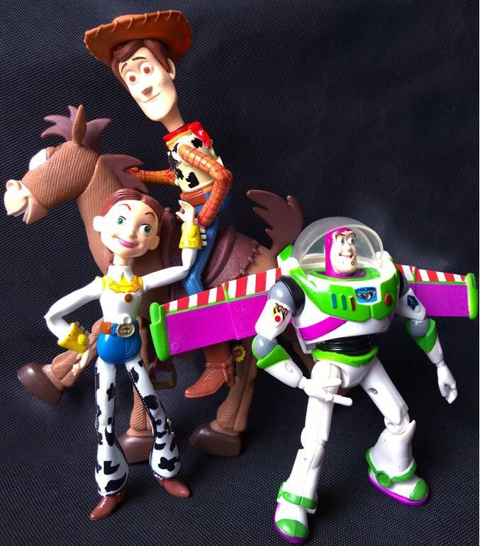 4pcs/set Toy Story 3 Buzz Lightyear Woody Jessie PVC Action Figures Toys Dolls Child Toys