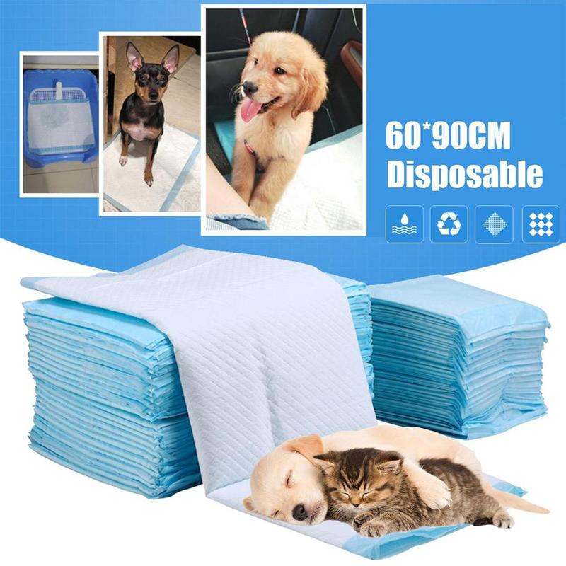 60 * 90 Pet Dog Diapers Super Absorbent Pet Dog Training Pee Pad Diaper Antibacterial Puppy Dog Nappy Pet Cleaning Supplies