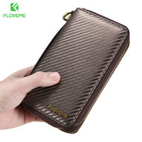 FLOVEME New Luxury Leather Pouch Phone Bags Case For IPhone 5s 6 6s 7 Plus Cover