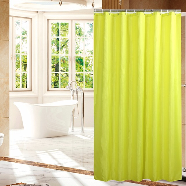 Lovely Solid Yellow Shower Curtain Contemporary - Bathtub for ...
