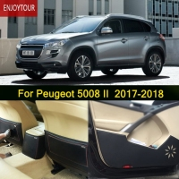 Car pads front rear door Seat Anti kick mat Car styling Accessories For Peugeot 5008 2017 2018