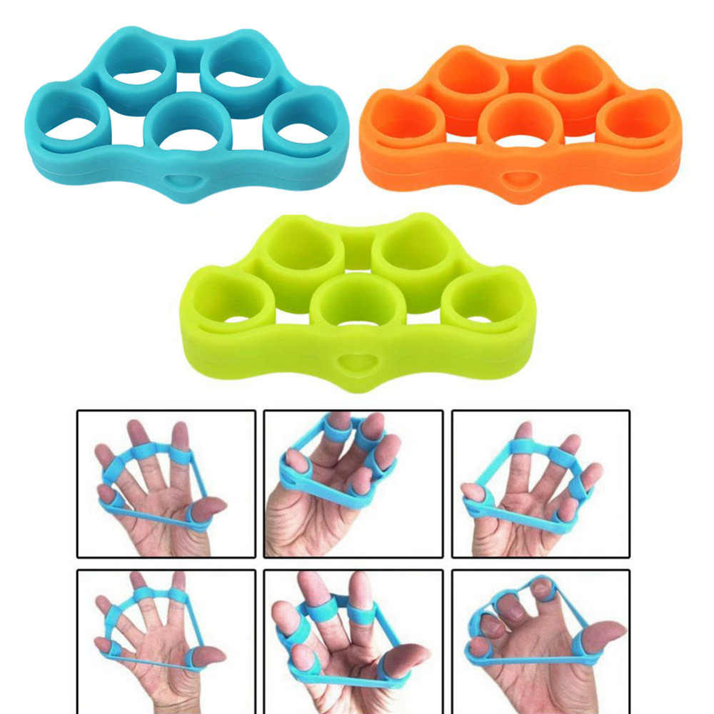 1 adet parmak tutucu gücü eğitmen direnç Band el kavrama bilek sedye parmak genişletici egzersiz parmak direnç bantları