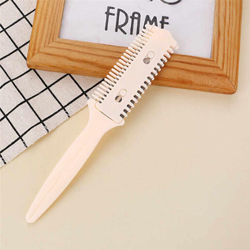 Professional Hair Razor Kamm Haar Kamm DIY Schneiden Ausdünnung Kamm Doppelseitige Messer Innen Klingen Haar Pinsel Haar Styling werkzeug