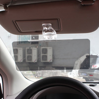 Durable Anti Glare Anti-abbagliamento Clip-on Auto Car Day Vision Guida occhiali da Sole A Specchio Visiera Parasole, blocchi UV Nocivi e Riverbero DEL SOLE