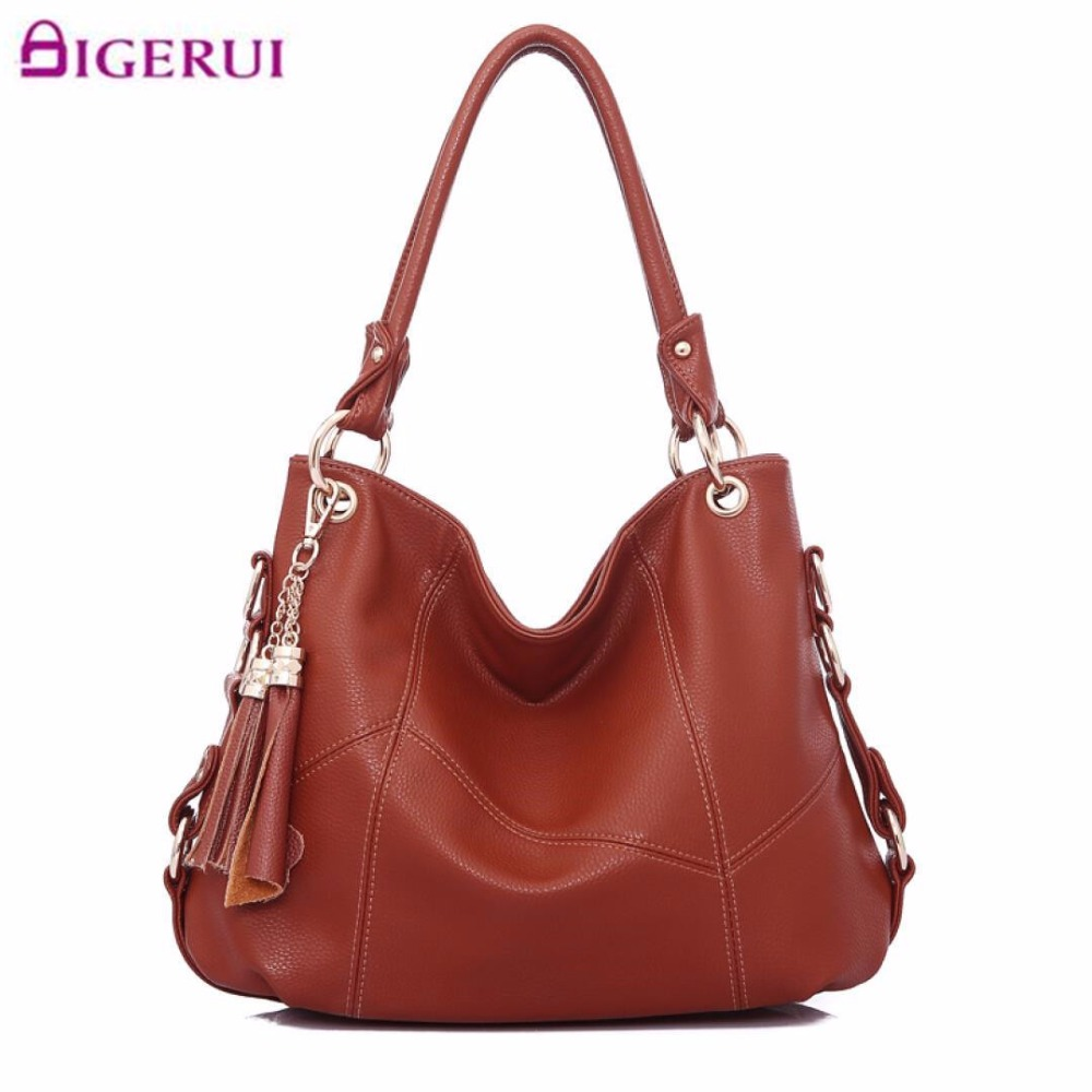 New Genuine Leather Tassel Handbag Women Messenger Bags ...