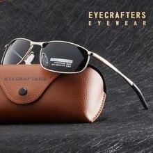 Роскошные HD поляризованные солнцезащитные очки для мужчин, серебристая металлическая оправа, очки пилота для вождения, мужские черные очки gafas de sol