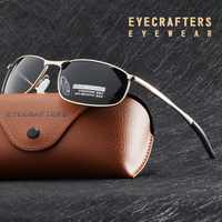 Luxo hd polarizado óculos de sol para homens prata metal quadro condução piloto óculos de sol masculino preto gafas de sol
