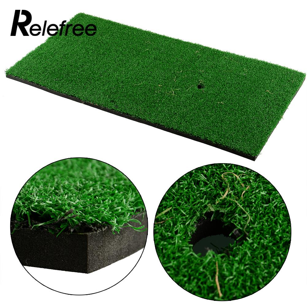 Relefree New Outdoor Backyard Golf Mat 60x30cm Residential Training Hitting Pad Practice Rubber Tee Holder Grass High Quality