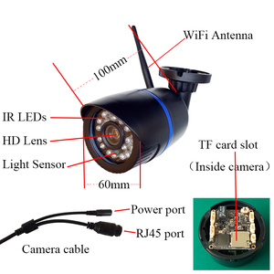 Image 5 - HD 1080P IP Camera Outdoor WiFi Home Security Camera 720P 2MP Wireless Surveillance WiFi SD TF Slot Waterproof IP Onvif Camara