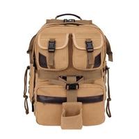 C007 Professional New Canvas SLR Camera Bag Shoulder Camera Bag Travel Backpack