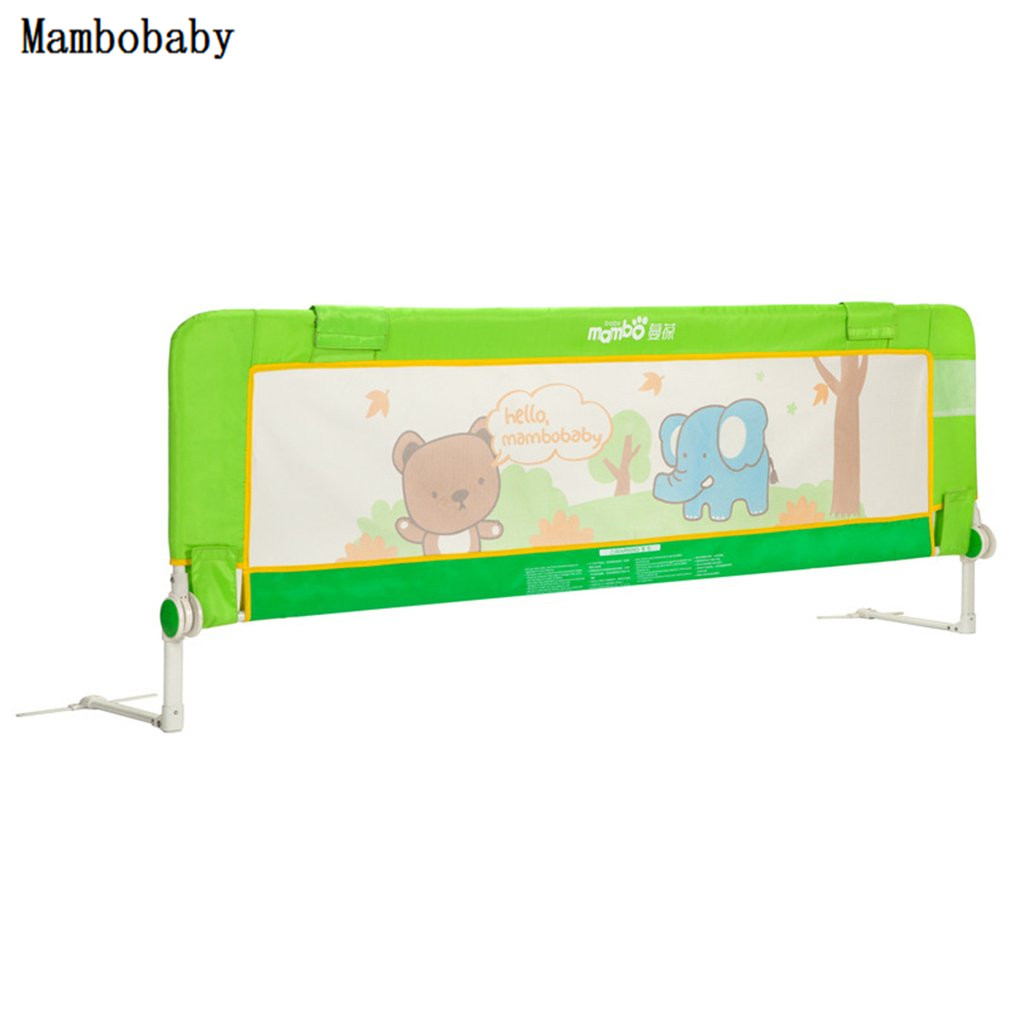 Baby Gate Infant Safety Bed 1.5 m Guardrail Heightening Baby Bed Fence Suitable For Universal Bed Green Fat Elephant Pattern one green elephant футболка