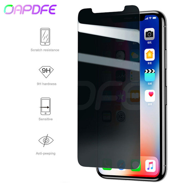 Anti Glare Tempered Glass For iPhone X XS Anti Privacy Screen Protector For iPhone XR XS Max Anti-peeping Glass Protection FilmAnti Glare Tempered Glass For iPhone X XS Anti Privacy Screen Protector For iPhone XR XS Max Anti-peeping Glass Protection Film