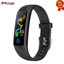 Imosi S5 Heart Rate Smart Bracelet Waterproof Blood pressure oxygen Monitor Color Screen Activity Fitness Tracker Band