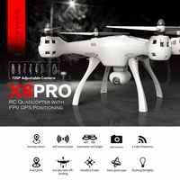 סימה X8PRO GPS DRON WIFI FPV עם 720P HD מצלמה מתכוונן מצלמה Drone 6 ציר אחיזת גובה x8 פרו FPV Selfie
