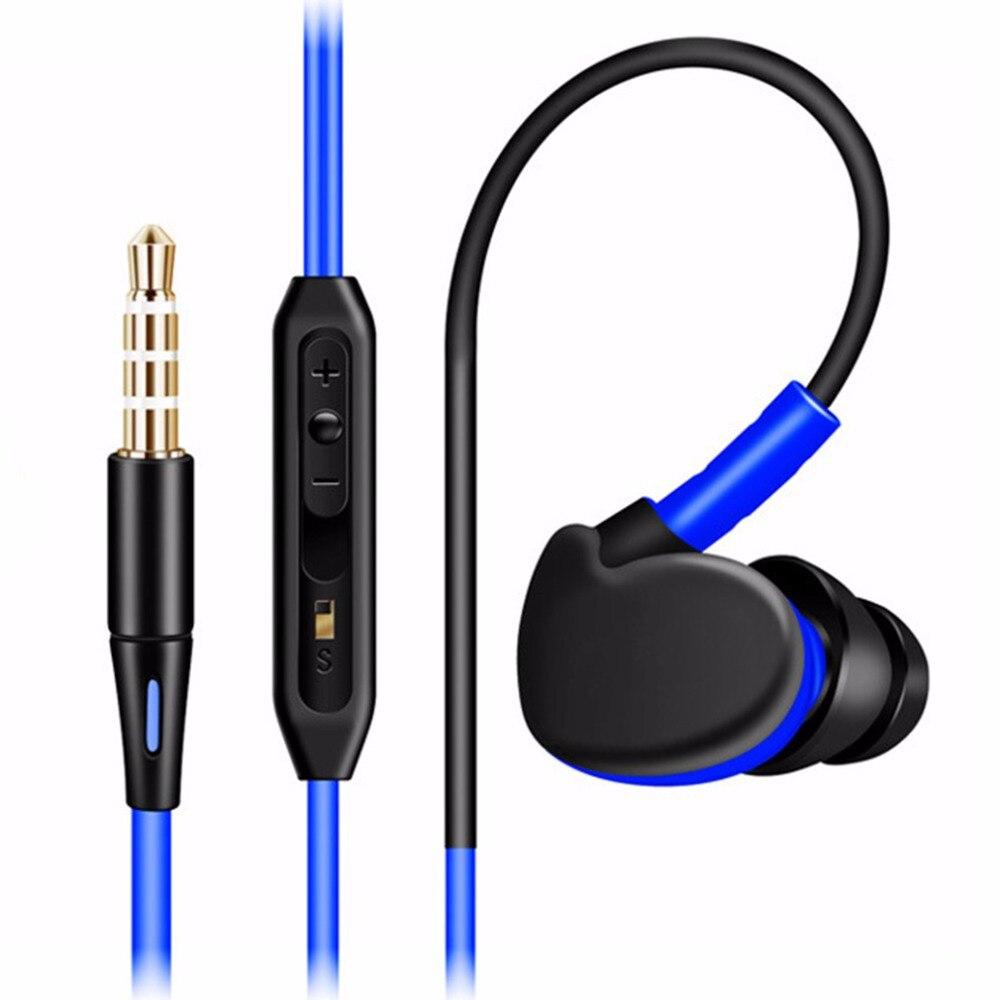 Nuevo En La Oreja Los Auriculares Impermeables cable TPE Estéreo Auricular Bajo