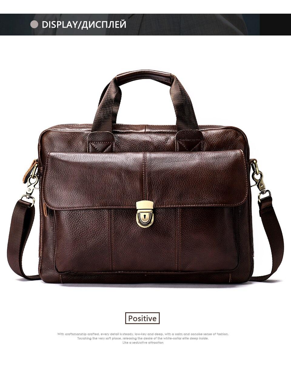 3319fd380bc3 Details about WESTAL Messenger Bag men Genuine Leather men s shoulder bag  Laptop Men s fashion