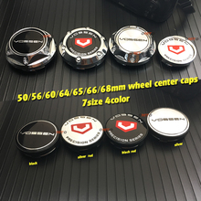 цена на 4pcs vossen Car Badge Emblem Stickers 50/56/60/64/65/66/68mm Car Wheel Center Cover Caps Hub Rim For VOSSEN Auto Accessories