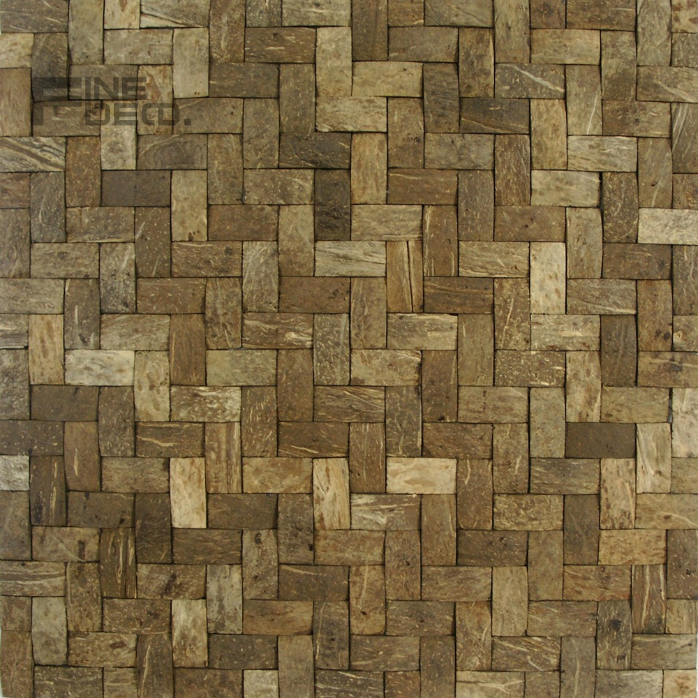 Wall tile buy cheap stone wall tile lots from china stone wall tile - Coconut Shell Mosaic Tile For Wall Decoration China Mainland