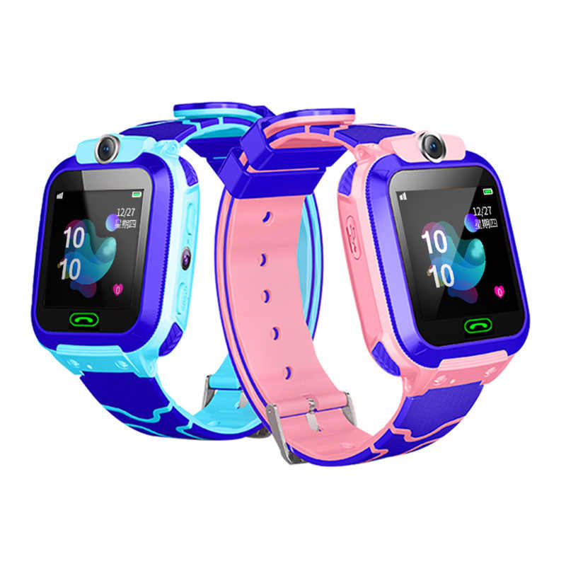 Kids Smart Watch IPX7 Waterproof Smart Watch Touch Screen SOS Phone Call Device Location Tracker Anti-Lost Childs Smartwatch