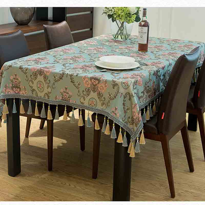 Meijuner Tassel Table Cloth Rectangular Edge Tablecloth Covers Decoration Towel Home Textile Decorative MJ038