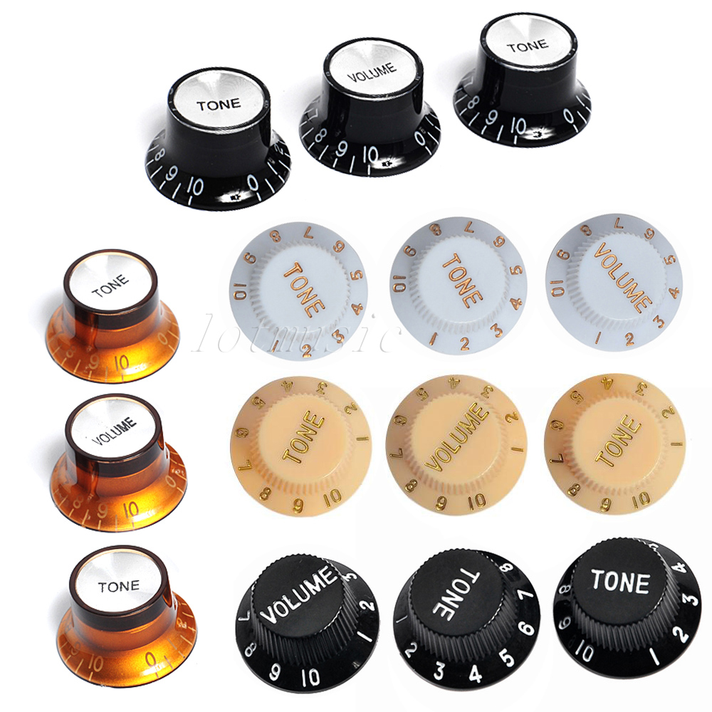 5sets Different color volume tone control knobs for fender strat guitar replacement