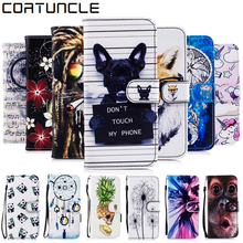 Phone Cases sFor Fundas iPhone 5S case For coque iPhone 5 6 6S 7 8 Plus SE X 10 cover Painted Wallet Flip Cover Leather Case
