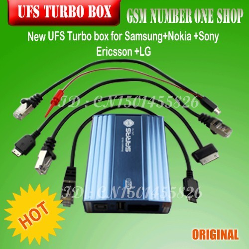 Original New UFS Turbo box UFS HWK BOX for Sam&NK& SonyEricsson UFST Box (Packaged with 4 cables)