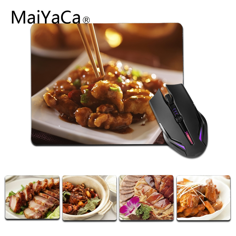 MaiYaCa New Design Chinese Cultrue Food small Mouse pad PC Computer mat Size for 18x22cm 25x29cm Gaming Mousepads