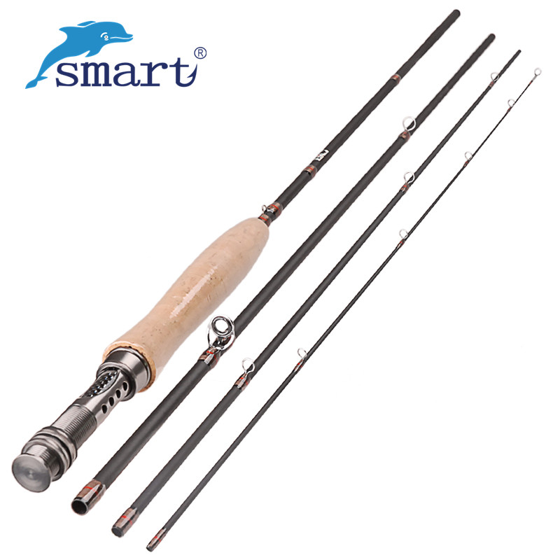 Carbon fiber fly fishing rod medium fast action for Fly fishing with spinning rod