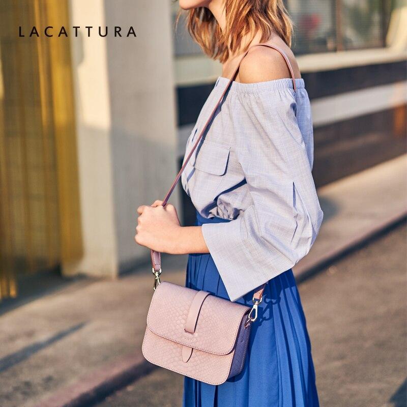 Dame Postier 2019 Sacs Pink blue Pour Conception Luxe De Femmes Les Sac Lacattura Crocodile La Peau Texture À Mode Bandoulière qvgpwFPR