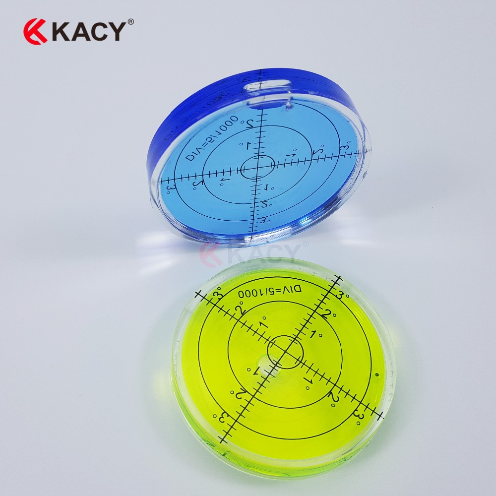 KACY 66X10MM 6pcs/lot Bullseye Spirit Bubble Level Construction Levels for Precision Instrument Levelling