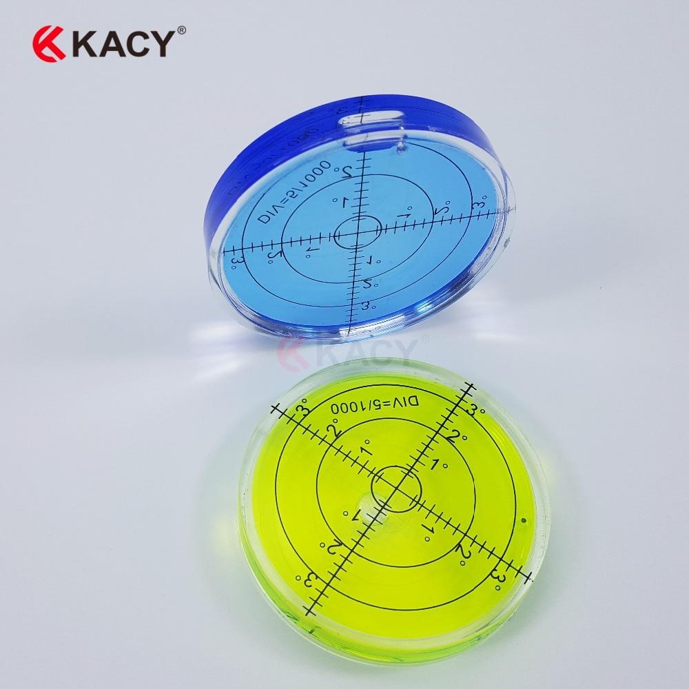 KACY 66X10MM 6pcs/lot Bullseye Spirit Bubble Level Construction Levels for Precision Instrument Levelling