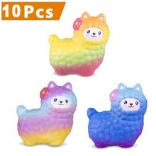 10pcs/lot Vlampo mini Alpaca Slow Rising Jumbo Squishy 3.9'' Super Soft Kawaii Squishy Toy Adorable Best Gifts for Children